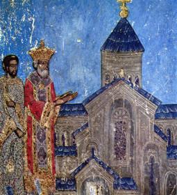 Svetitskhoveli_fresco._King_Mirian